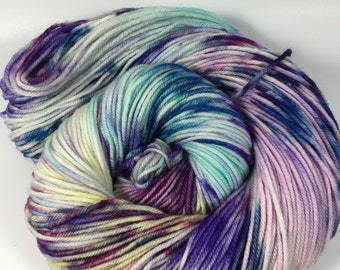 Light Worsted, DK, hand dyed yarn, Superwash Merino, 100 grams, Hand Dyed Yarn, Humble, double knitting, DK weight