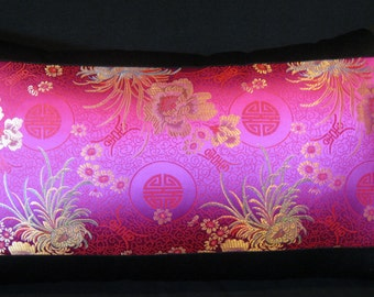 pink gold black pillow cover 12 X 21