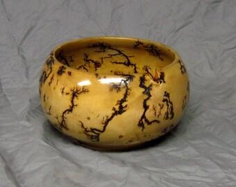 "Black Spruce ""Lightening"" Bowl"
