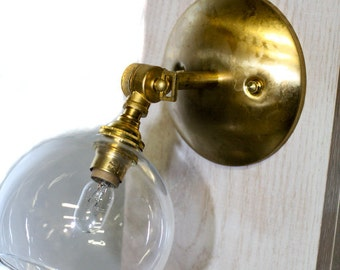 Minimalist Modern Open Glass Globe Adjustable wall sconce or ceiling mount. Also comes in Chrome finish