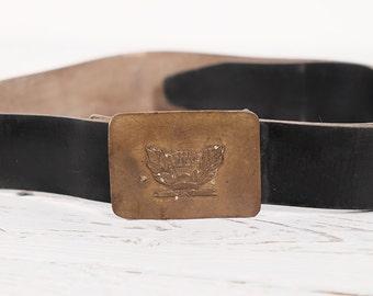 Soviet School Pupil UNIFORM Vintage Soviet Russian USSR Belt with Brass Buckle