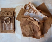 Soft browns pack plant dyed scraps