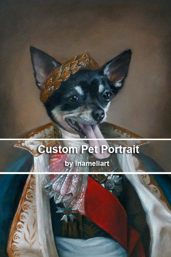 Acrylic custom pet portrait, original acrylic painting whimsical dog cat animal pet lover painting handmade wall art gift