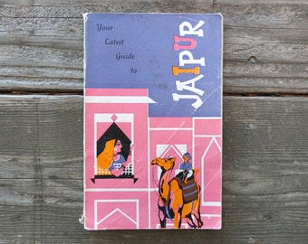 Vintage 1959 Guide to Jaipur Book / Indian Guide Book