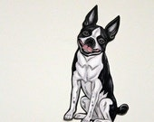 Boston Terrier Articulated Paper Doll, Gift Tag or Magnet