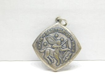 Vintage 1970's Memory of Tokyo Tower Zodiac Sagittarius Pendant Charm DR11