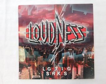 Loudness Lightning Strikes Hair Band 1980s Record Album