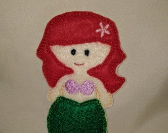 Ariel Princess Felt Finger Puppet