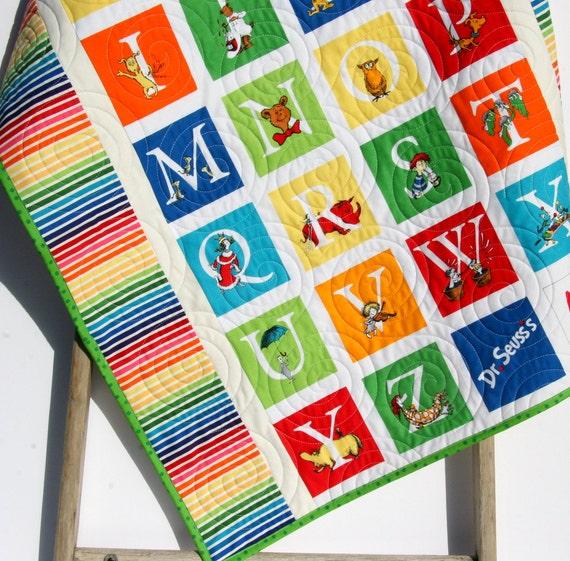 Abc Dr Seuss Quilt Kit Stripes Panel Dr Seuss Blanket