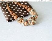 FLASH SALE ColorMix Nursing Necklace - Forest Mix & Apple Wood