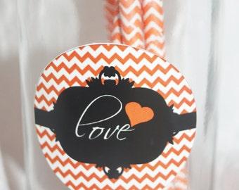 Chevron Love Labels, Love labels, wedding labels, wedding love labels, Chevron labels, Milk bottle labels, Chevron design,  Set of 25