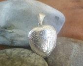HOLD Vintage sterling locket pendant