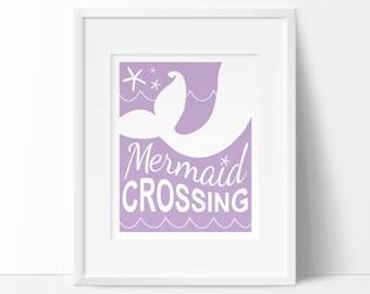 mermaid nursery art, kids bathroom art, INSTANT DOWNLOAD, mermaid art, baby wall decor, modern nursery prints, beach nursery art, PRINTABLE