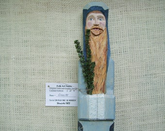 Folk Art Santa Wood Carving Limited Edition