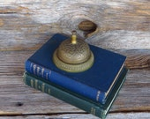 Desk Bell Intricate Service Bell Retro Home Office Front Desk Shop Keepers Bell 1970s Home Decor