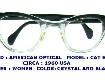 AMERICAN OPTICAL eyewear / tart arnel  / ivy league eyeglasses  /  Hollywood / 1960 style eyewear / retro style / vintage eyewear