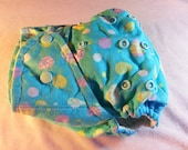 SassyCloth one size pocket diaper with Easter eggs cotton print. Ready to ship.