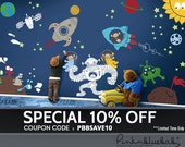 Space Theme Removable Wall Decal