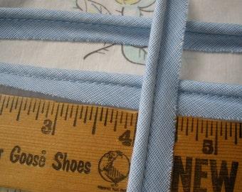 "Blue Gingham Cordedge Piping Trim Lip Cord 1/2"" bias tape 1/8"" Lip Edging Quilts Pillows choose yardage embellish home decor yards"