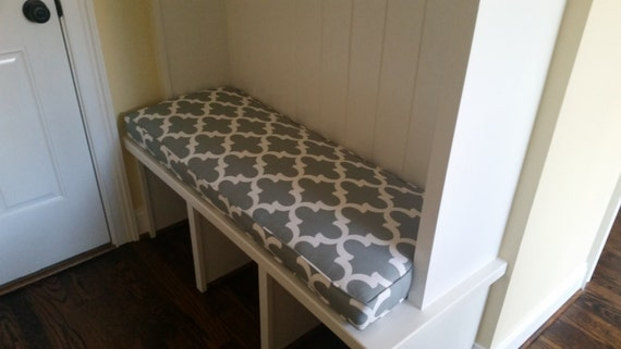 mudroom bench cushion window seat cushion in custom fabric