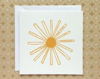 SUNSHINE | greetings card