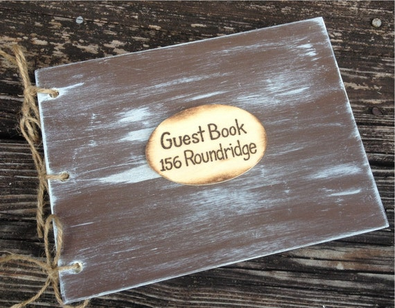 Handcrafted Wooden Guest Book Wedding First Home Guest House