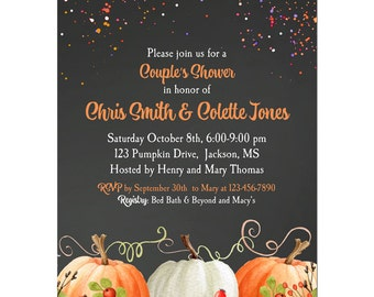 Pumpkin Invitation Printable or Printed with FREE SHIPPING - ANY Wording - Birthday, Rehearsal Dinner, Shower - Elegant Pumpkin Collection