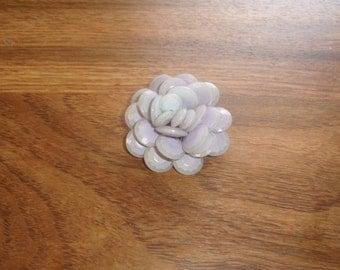 vintage pin brooch lilac prism lucite flower