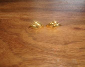vintage screw back earrings napier goldtone