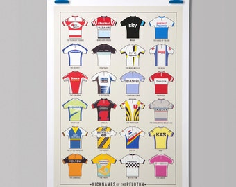 Cycling Infographic 'Nicknames of the Peleton'