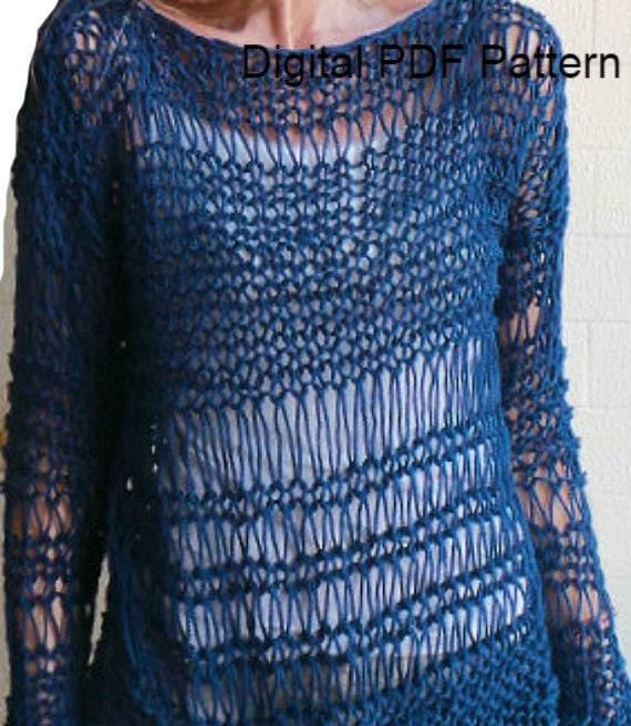 Baggy Sweater Easy Knitting Pattern PDF Pattern by ToppyToppyKnits