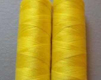 Yellow Sewing Thread-2 spools