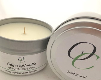 Kiwi Melon //Highly Scented SOY Candle 6oz Tin **New Fragrance**