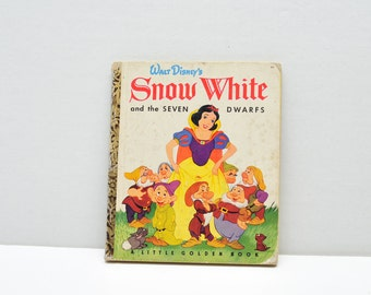 Snow White and the Seven Dwarfs-- Little Golden Book -- 1948 -- Walt Disney