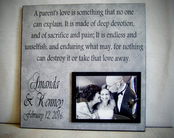 Wedding Gift Ideas For Parents Of Bride And Groom : Personalized Anniversary Frame Wedding by YourPictureStory on Etsy