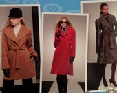 SHAWL COLLAR COAT Pattern • Simplicity 2311 • Miss 14-22 • Princess Seam Coat • Belted Jacket Pattern • Modern Patterns • WhiletheCatNaps