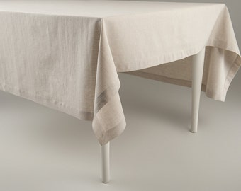 Tablecloth, Cotton Tablecloth, Cotton And Linen Blend Tablecloth, Custom  Length Tablecloths, Classic