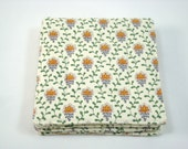 French Country Fabric Coasters Set of 4 Charles Demery Fabric Coasters French Coasters Beverage Coasters
