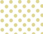 Michael Miller Gold glitz dot fabric by the yard- quarter size gold glitz dot fabric- gold on white gold glitz dots-
