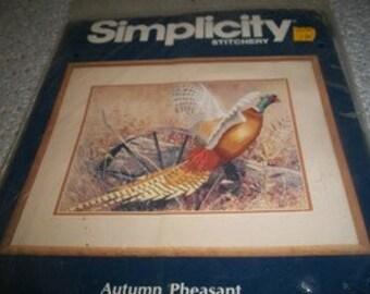 Simplicity Stitchery Autumn Pheasant Crewel Kit