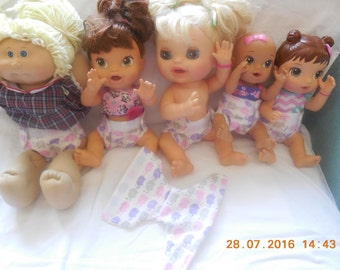 READY TO SHIP #1 elephant flannel doll diaper fits some baby alive fits snackin sara sips n cuddles baby all gone better now Bailey and more
