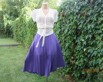 Pleated Skirt / Pleated Skirts / Violet Pleated Skirt / Skirt Vintage / Big Size Skirt / Size EUR50 / UK22