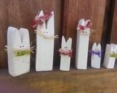 Set of 6 bunnies