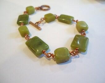 New Jade and Copper Bracelet