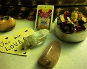 The Lovers Mini Tarot Crystal Pack  Final Sale
