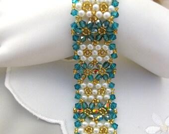 Swarovski floral bracelet