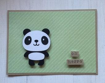 Oh Herro Panda Card