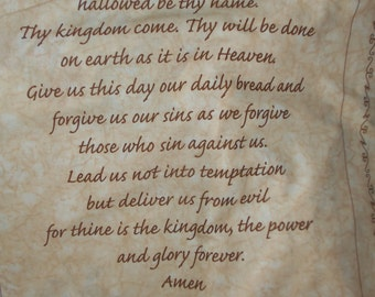Biblical Fabric Panels with Lords Prayer and 3 others