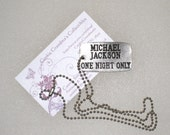 1995 Michael Jackson One Night Only HBO Dog Tag Necklace / Rare / FREE US Shipping