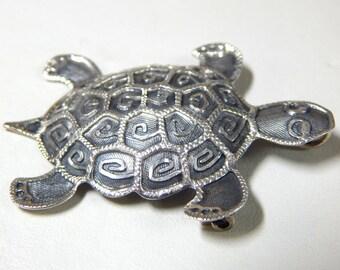 Sterling Silver Turtle Pendant/Brooch